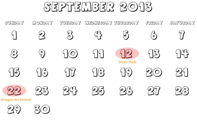 Printable calendars for personnal use