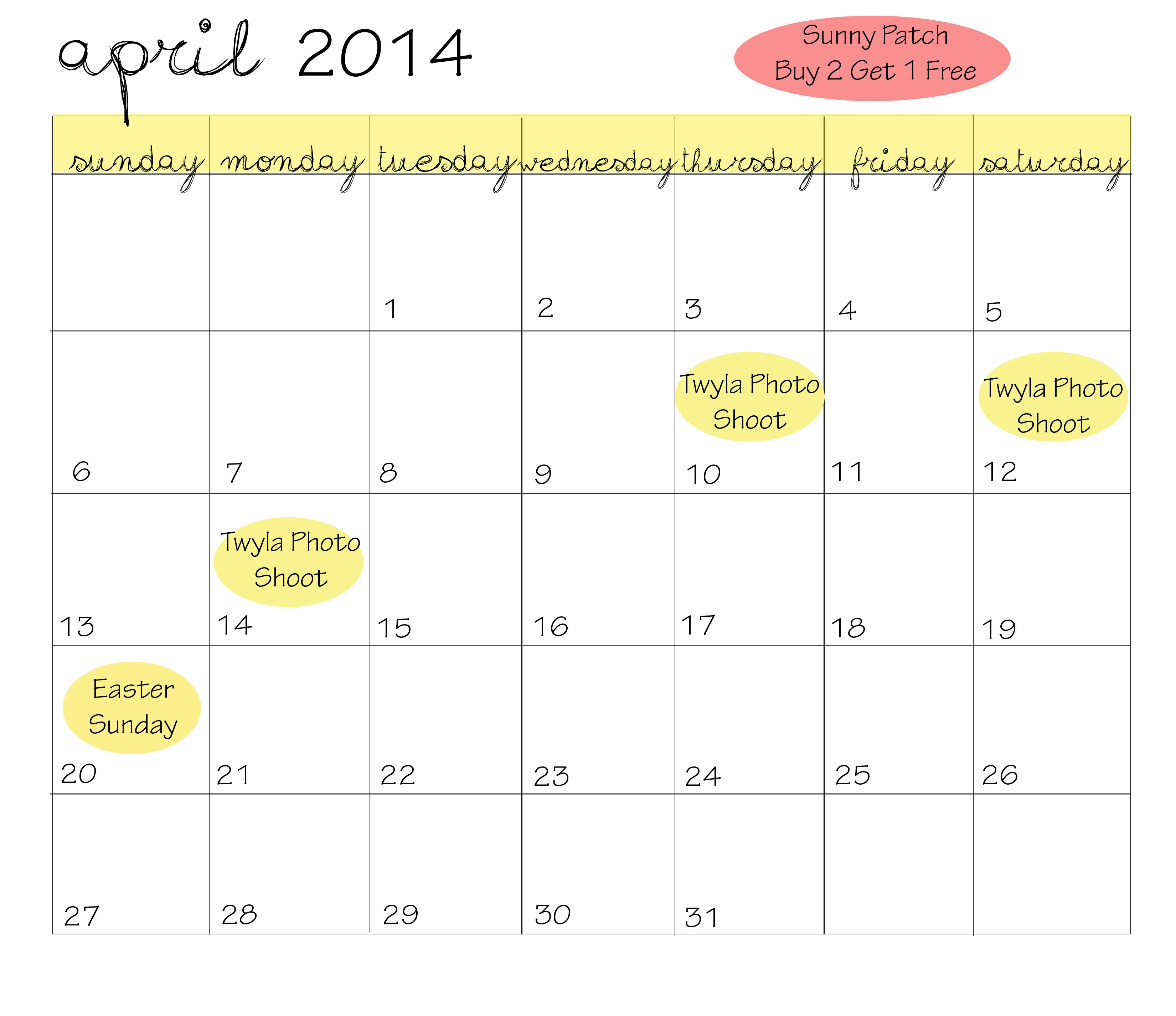 April Reading Calendar : Duck worth reading april newsletter