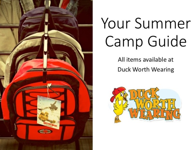 Duck Worth Summer Camp